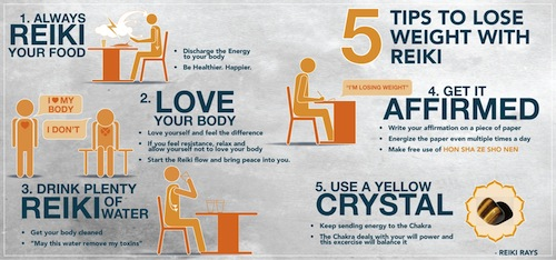 [Infographic] 5 Tips to Lose Weight with Reiki