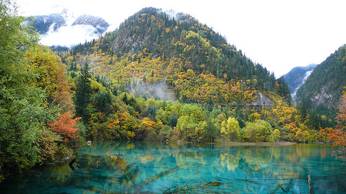 Mountains of Five Flowered Lake