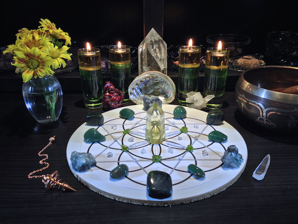 Abundance Prosperity Crystal Gemstone Grid 3