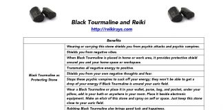Black Tourmaline and Reiki