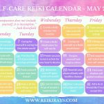 Self-Care Reiki Calendar May 2019