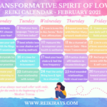 Transformative Spirit of Love Reiki Calendar February 2021