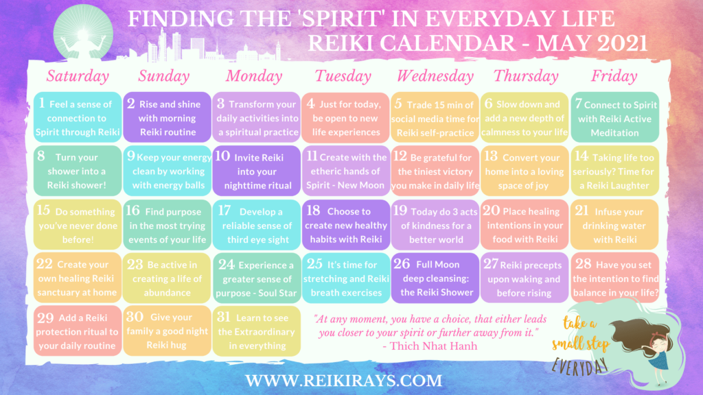 Finding the 'Spirit' in Everyday Life - Reiki Calendar May 2021